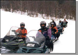 A family group from southern Maine come annually on vacation week to ride our trails.